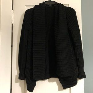 J Crew Black Chunky Cardigan with Pockets